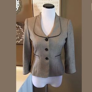 Antonio Melani Blazer Career Tan Brown Textured